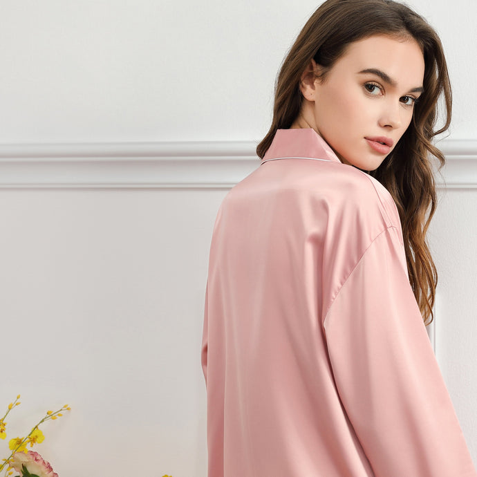 Dusky Rose Satin Sleepshirt