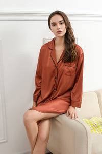 Copper Satin Sleepshirt
