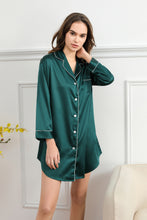 Load image into Gallery viewer, Forest Green Satin Sleepshirt