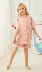 Dusky Pink Childrens Short Pyjamas