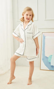 White Childrens Short Pyjamas