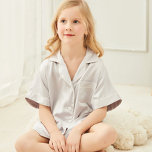 Load image into Gallery viewer, Silver Grey Childrens Short Pyjamas