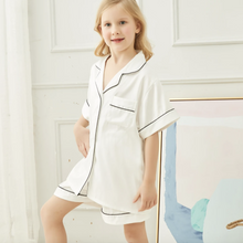 Load image into Gallery viewer, White Childrens Short Pyjamas