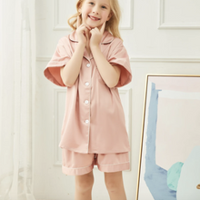Load image into Gallery viewer, Dusky Pink Childrens Short Pyjamas