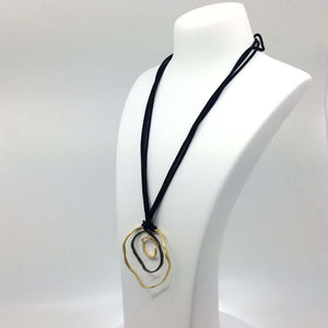 Large black & golden necklace
