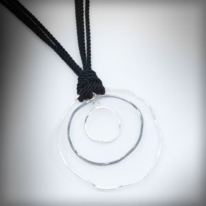 Large black & silver necklace