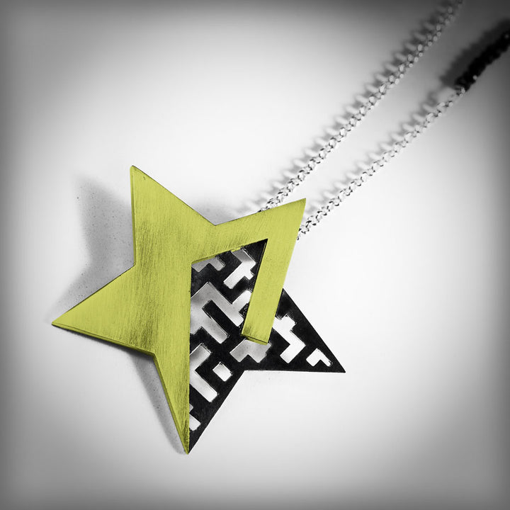 Necklace with large golden star