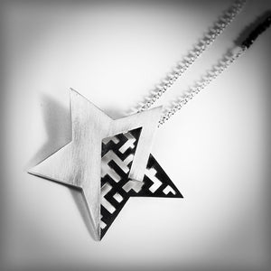 Necklace with large silver star