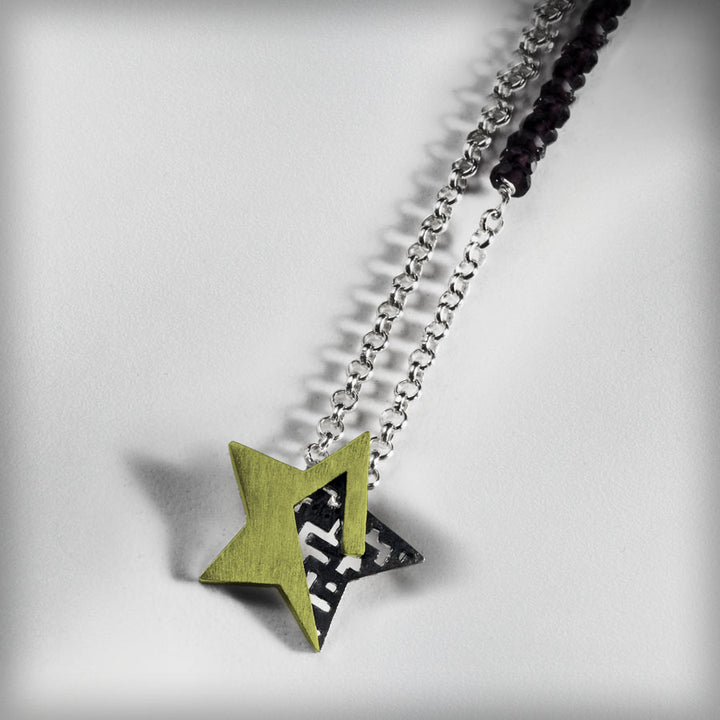 Golden star necklace