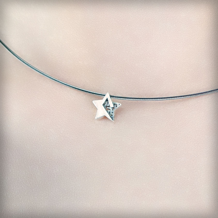 Necklace with small silver star