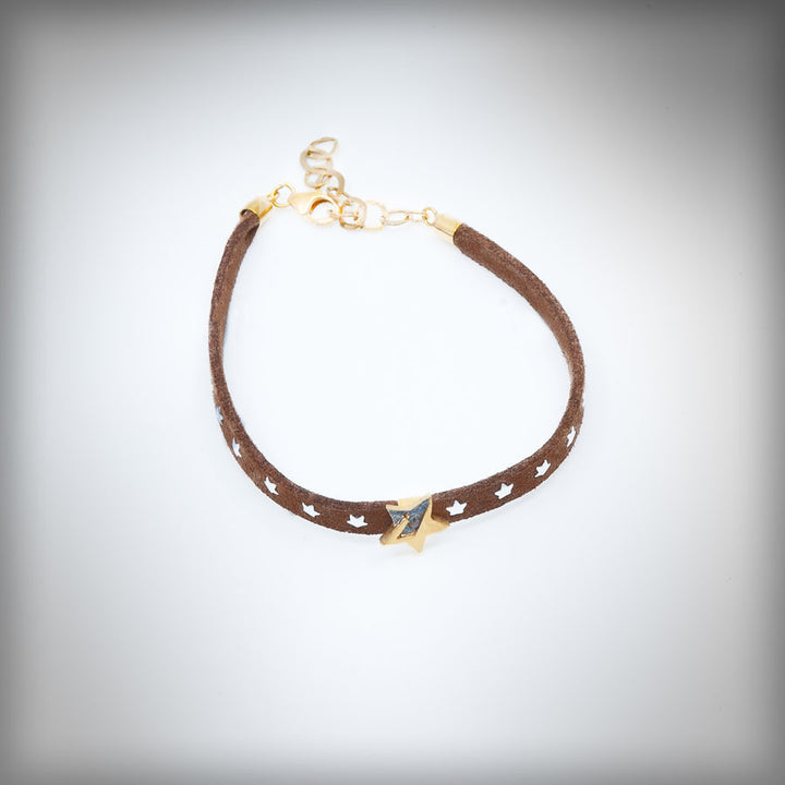 Bracelet with small golden star