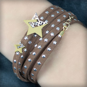 Bracelet with golden stars
