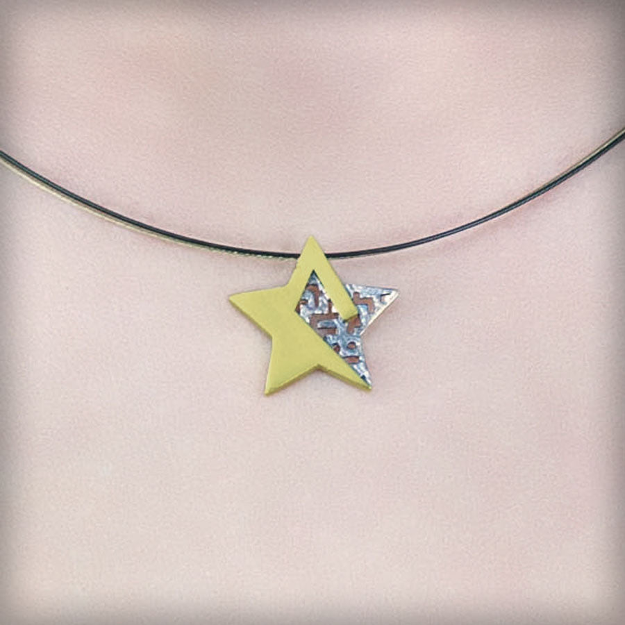 Necklace with golden star