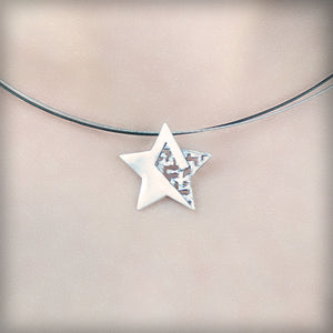 Necklace with silver star