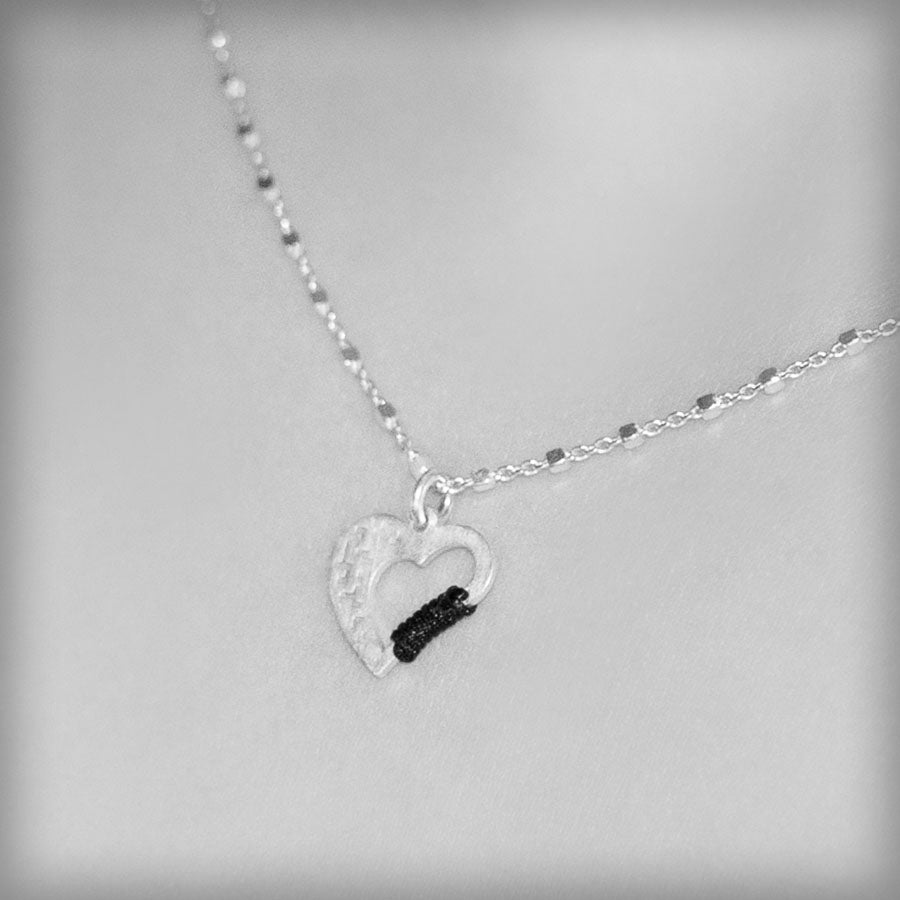Necklace with silver heart