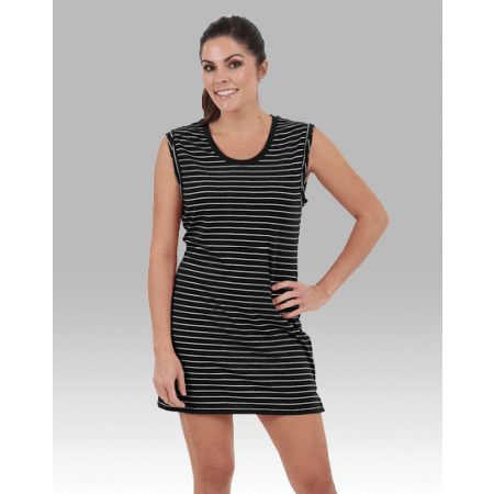 bbff49edec2 Women's Sleeveless Striped Tunic Cover Up Dress – College Loungewear
