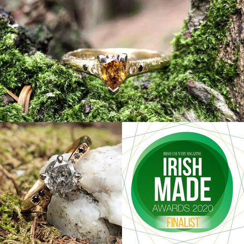 Irish Made Awards, Alternative Engagement Rings, salt and Pepper Diamonds, Irish Country Magazine, Irish made engagement ring, made local.