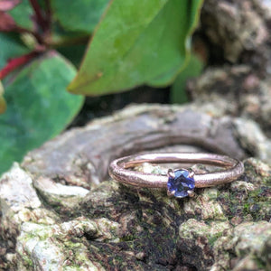 Iolite stacking ring, iolite rose gold, promise ring