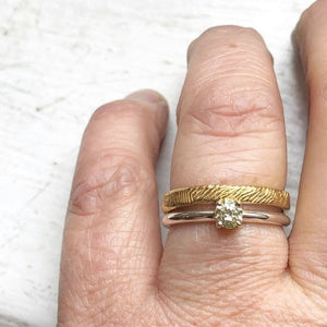 Wedding ring set, Handmade Engagement Ring, Handmade Wedding ring, Irish made, Hand made Gold Ring,