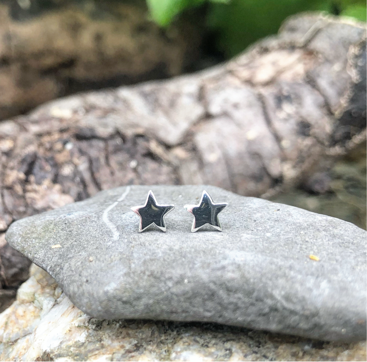 stella, stars, star earrings, silver stars, bridesmaid gift, bridal jewellery