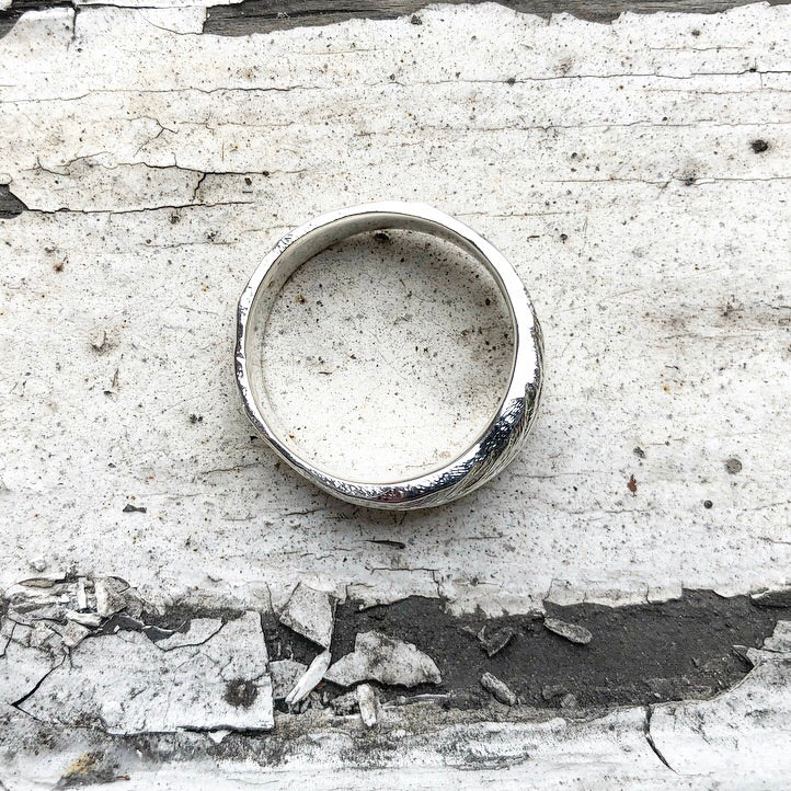 silver ring, mens ring, hand carved ring