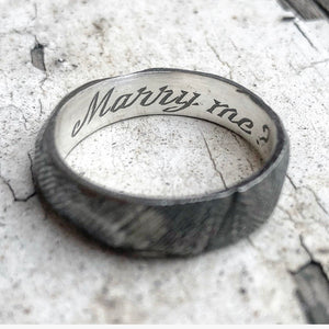 Will ye though? Sterling silver proposal ring.