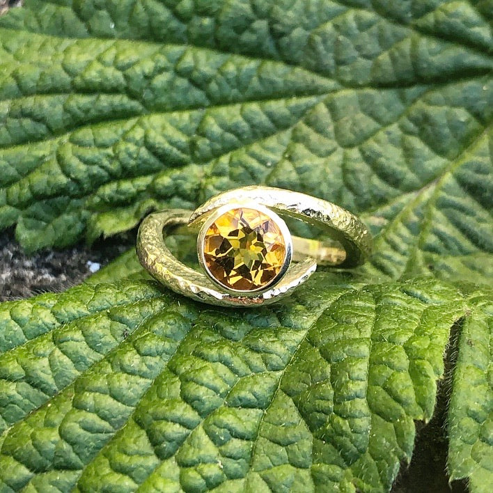 Primrose Embrace-Citrine & Yellow Gold Embrace