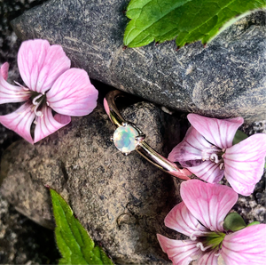 opal, stacking ring, promise ring, rose gold, engagement ring