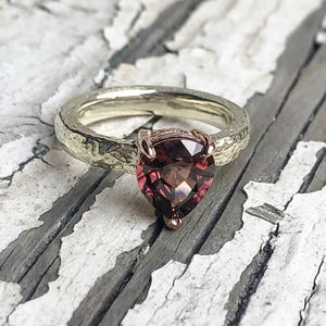 Zircon, Wedding ring set, Handmade Engagement Ring, Handmade Wedding ring, Irish made, Hand made Gold Ring,