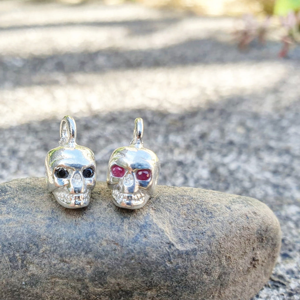 Mori Skull Pendant Gemstone eyes