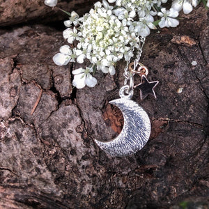 Luna & Stella-Silver Moon and Star Necklace