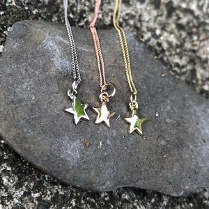 Stella Necklace, Star Necklace, Gold Necklace