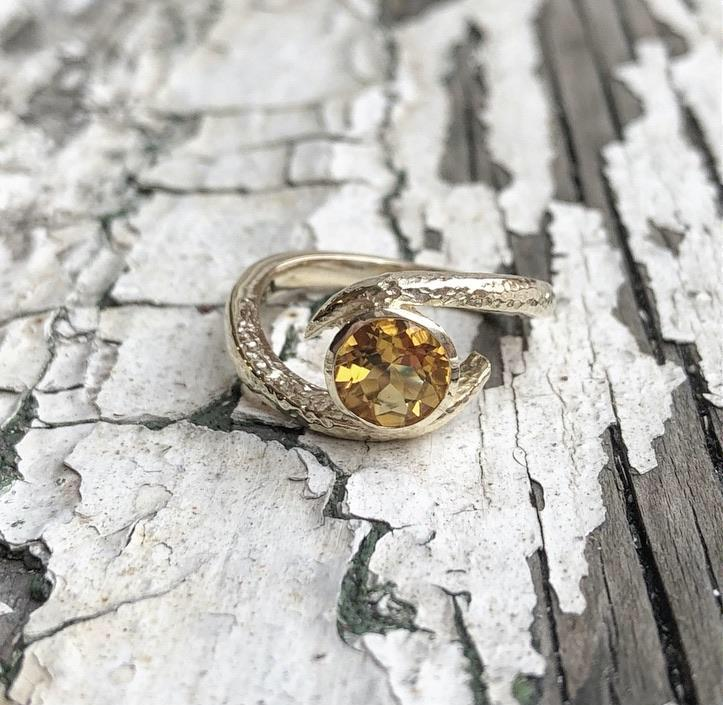 citrine, yellow gold, embrace