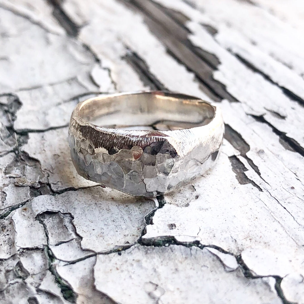 beara, sterling silver ring, handcarved ring, gents ring, alternative wedding ring