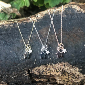 stella and stardust, star necklace, gold star, yellow gold, white gold, rose gold, birthday gift.