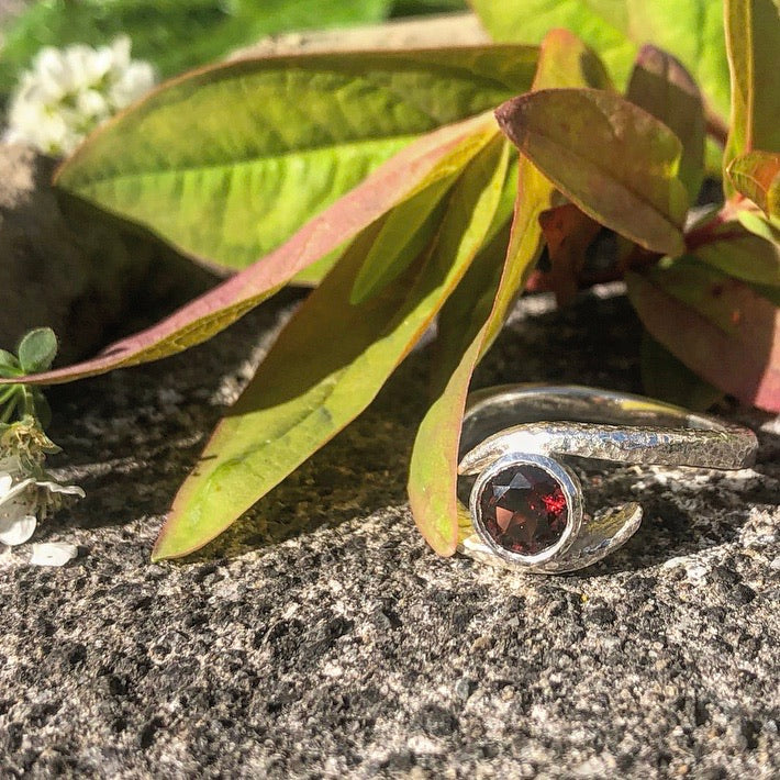 Embrace- Sterling Silver with gemstone.