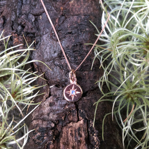 rose Gold with Moonstone, Moonstone, rough with the smooth, disc Necklace