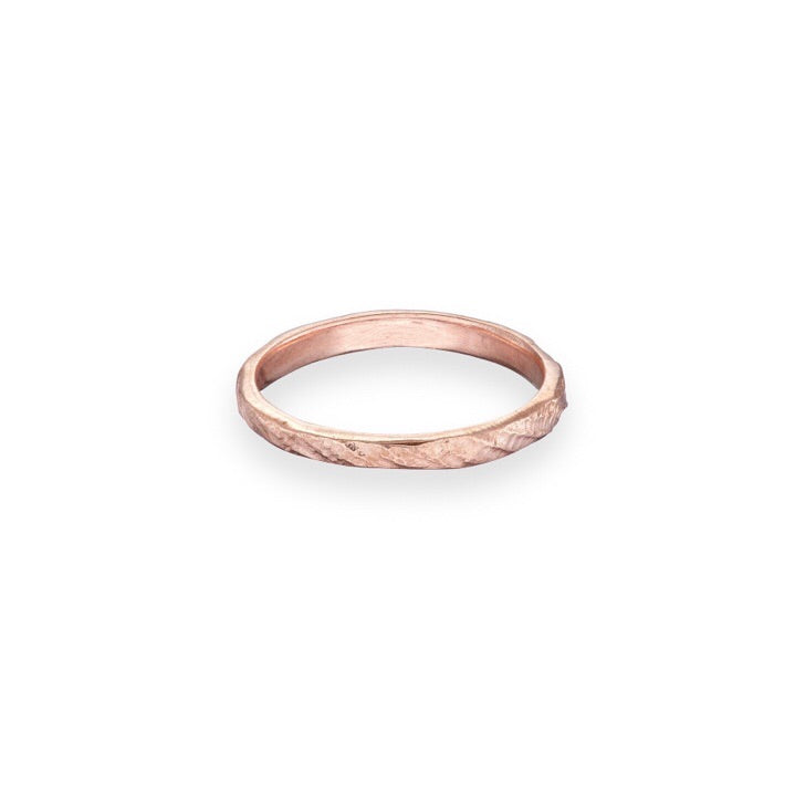 Rose Gold wedding ring | irish jewellery | rustic wedding ring | ladies wedding ring | handmade jewellery