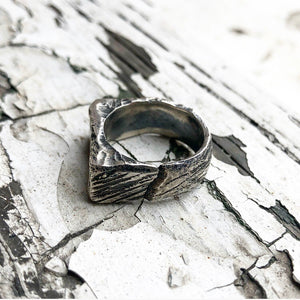 sterling silver Signet ring | gents signet ring | Irish jewellery | mens rings | mens jewellery | Rustic jewellery | made in ireland