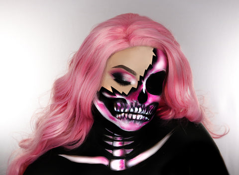 Palladio Beauty Halloween Sexy Pink Skull collaboration with @maryandpalettes