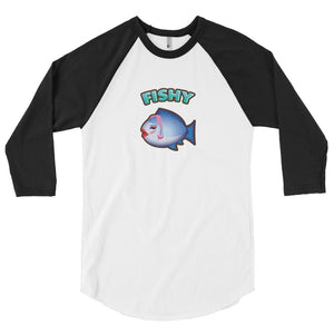 Fishy 3/4 sleeve raglan shirt