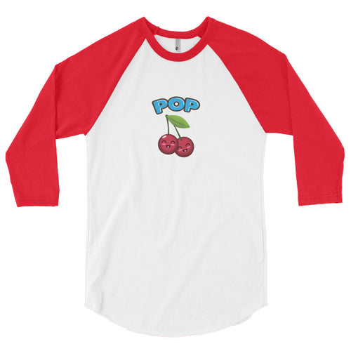 Cherry Pop 3/4 sleeve raglan shirt