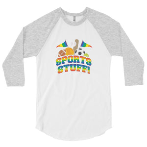 Sports Stuff!!! 3/4 sleeve raglan shirt