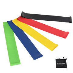 Power Guidance Mini Aerobic Bands - Set of 5 PCS