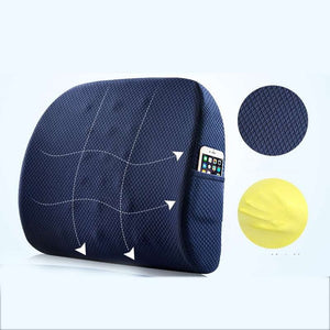 Memory Foam Seat Cushion for Lumbar Support & Back Pain Relief