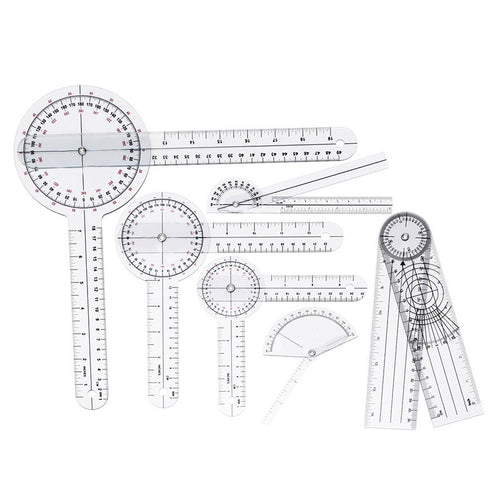 6pcs/set Spinals Goniometer Protractors