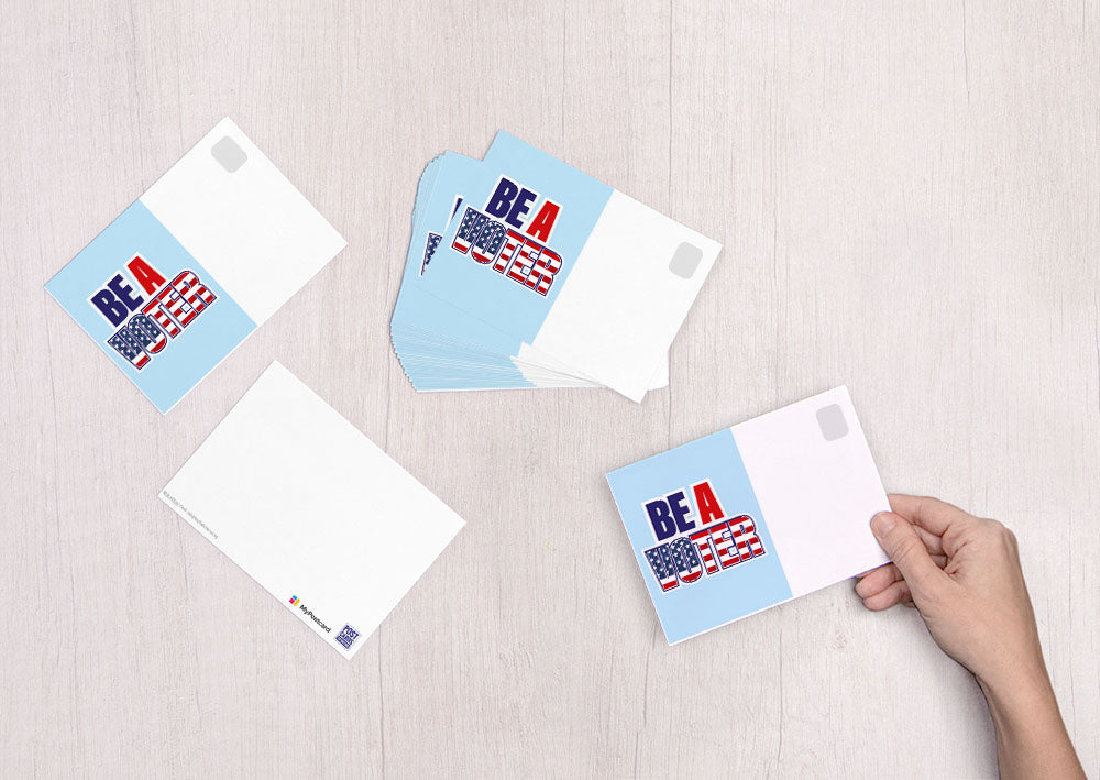 Be a Voter - Flag Font