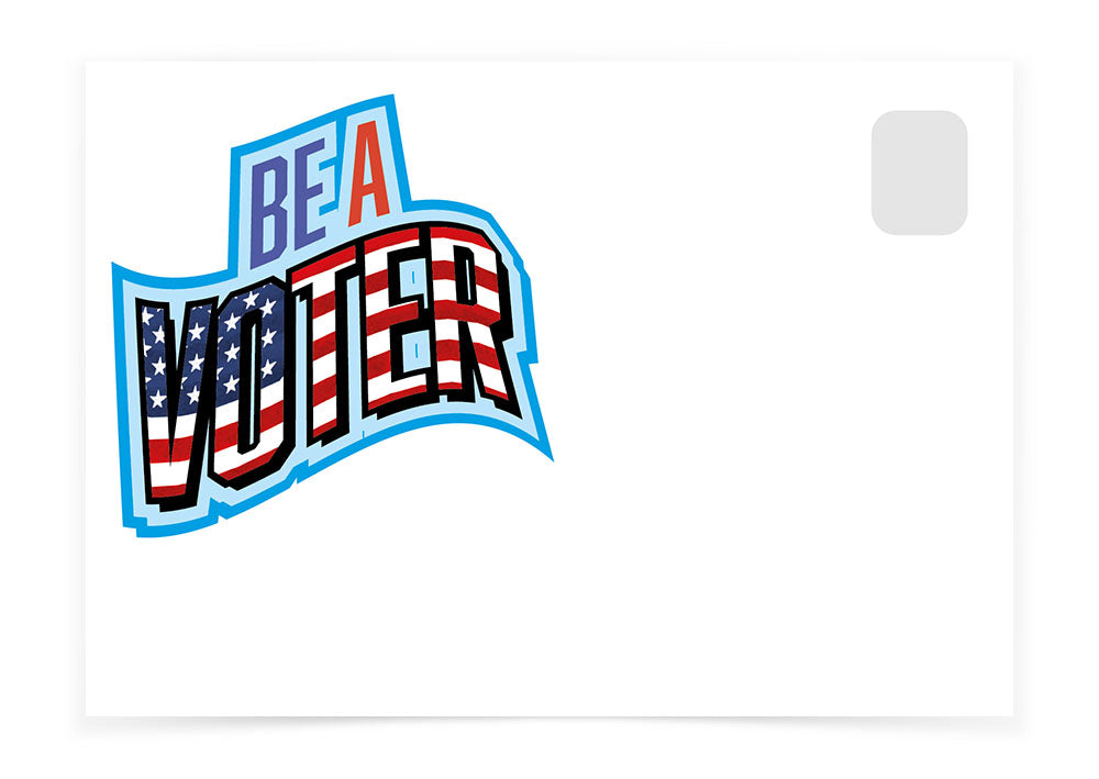 Be a Voter - Flag Font Wavy