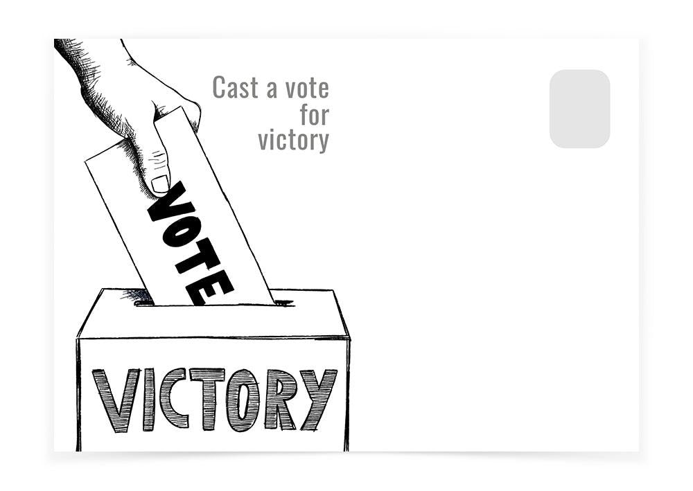 CAST A VOTE FOR VICTORY - Postcards to Voters