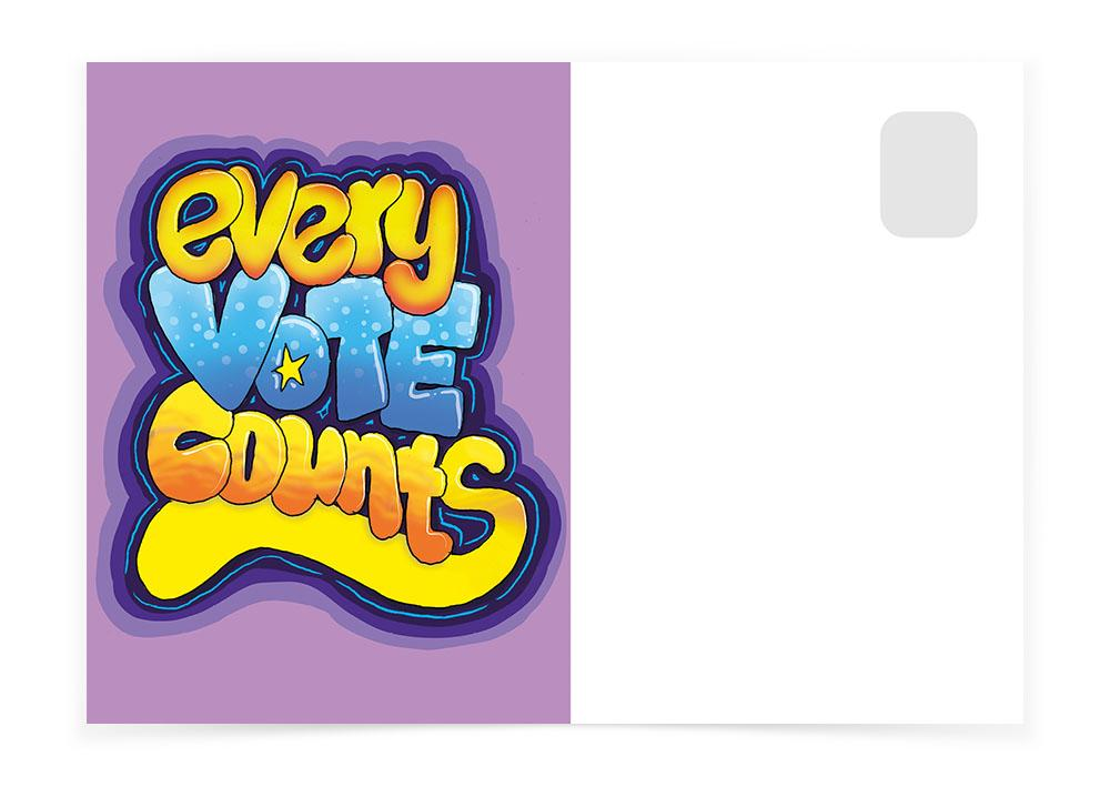 Every Vote Counts - Purple